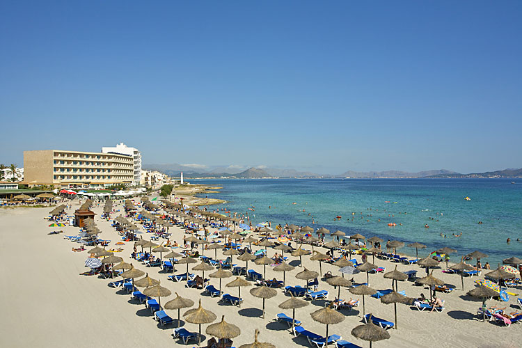 Ca N Picafort Mallorca Club Blaues Meer